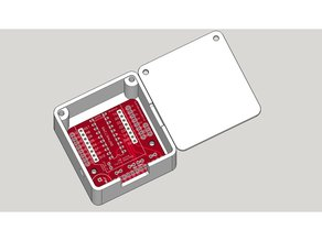 Wemos D1 Mini ESP8266 LED & Level Shifter Shield Enclosure & Lid