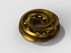 Spiral donut toy 1