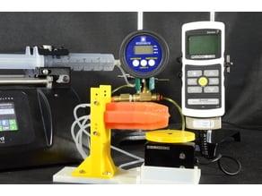 Blocked force test setup for soft actuators