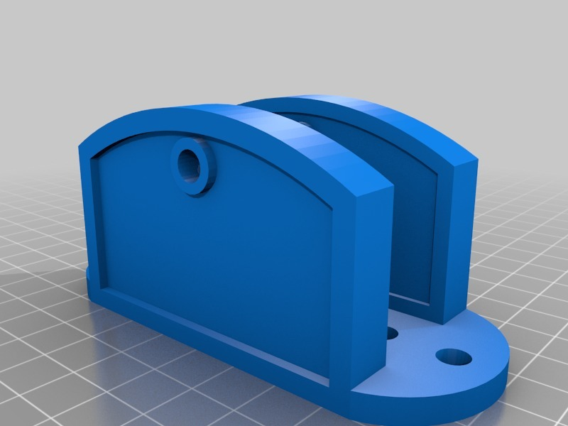 Simple hinge base for 1x2 furring strips by toguan - Thingiverse