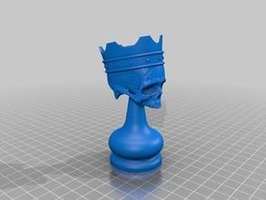 skull chess knight remix