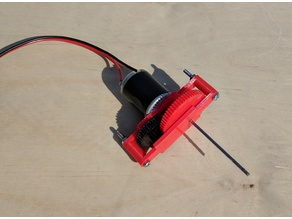 Small DC motor gearbox 15:1