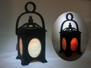 LED Holiday Litho-Lantern
