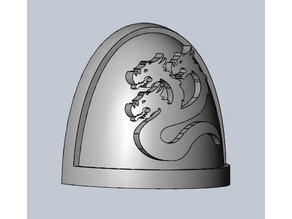 First Foundation traitors Space Marine Shoulder pads Warhammer 40k