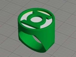 Dual Extrusion Green Lantern Ring
