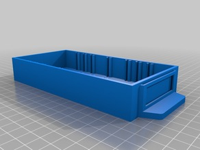 "Small Parts Organizer Bin (1"" x 3"" x 6"" outer box dimensions)"