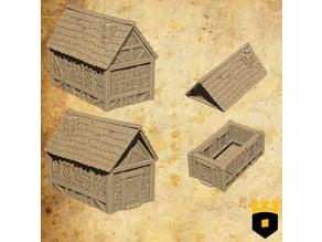 Small medieval house, Kickstarter teaser model 3Dlayeredscenery