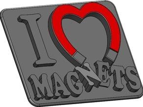 I Heart Magnets fridge magnet!