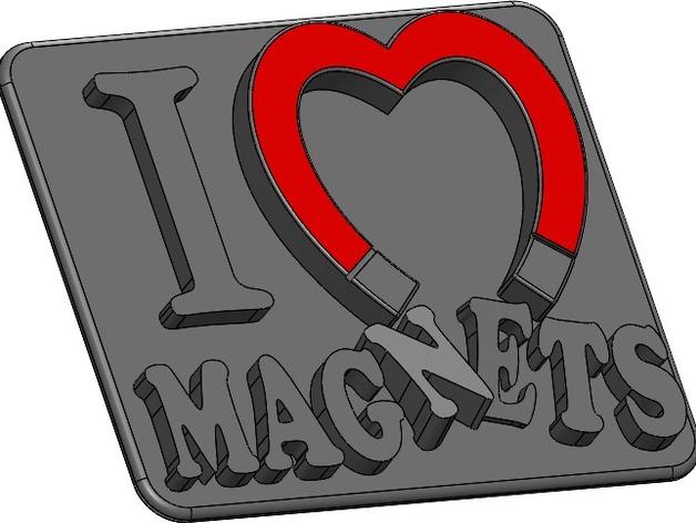 I Heart Magnets Fridge Magnet By Threehamswillkillhim Thingiverse