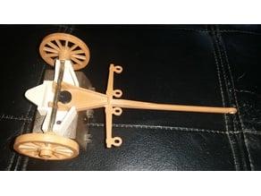 Playmobil 1980s cannon limber swivel pin (nr 3278)