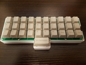 Gherkin (Ortholinear Keyboard) Spacebar Sandwich Case