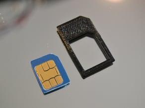 Microsim to SIM adapter