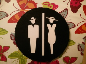 Classy Toilet Sign