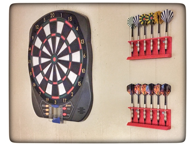 Wall Mounted Dart Holder By Ghost 4444 Thingiverse