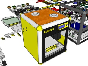 PANDORA DXs - DIY 3D Printer - 3D Design