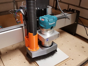 Shapeoko3 dust shoe with quick release - V2