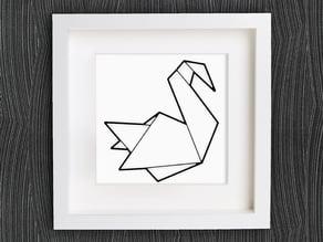 Customizable Origami Swan