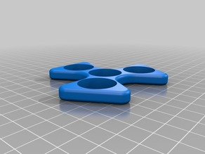 Fidget spinner triangular design