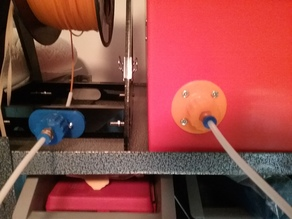 Filament filter and guide for Anet A8 reel holder.