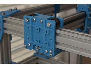 Modular carriages for 4020 v-slot (for d3m-bot, d-bot, c-bot)