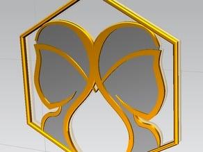 Ciondolo Zodiacale dei Gemelli rev002 - Pendant Zodiac Gemini rev002