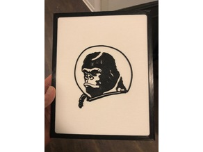 Space Gorilla 2D Art w/Frame