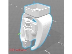 E3D Volcano / v6 40mm axial fang for CR-10 / Ender-4