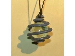 Spiral Marble Pendant
