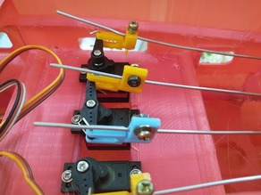 Clevis with pushrob stopper for  RC Plane