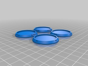 38mm (1.5in) Recessed Basing for Miniature Figures