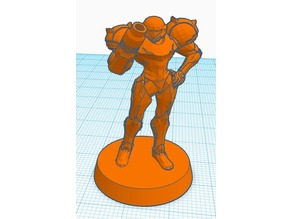 Samus Aran 28mm scale w/base