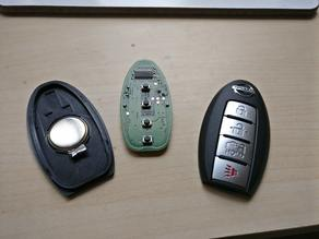 Nissan Key Fob Flat Back