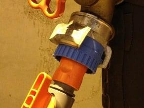 Fire hose to garden hose adapter