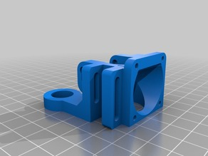 E3D v6 fan holder with 12mm inductive probe mount