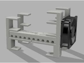 Ubiquiti UNIFI USG rack including 80mm fan holder(8-port, 60W PoE)