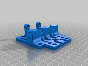 Plate with BLTouch Mount for  Anet A8 And Clones Compact Dual Extruder Carriage