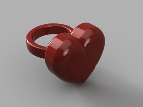 Valentine's Day heart ring