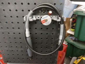 Dremel Flex Shaft Storage Rack (pegboard compatible) with extra tool storage