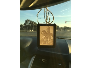 Lithophane Holder for Car Mirror/Window/Ornament & Instructions