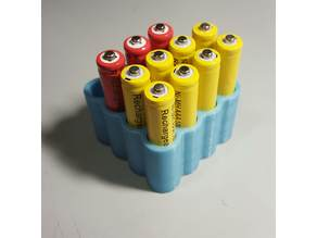 Stackable AAA battery holder (Triple A)