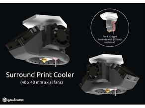 Surround Print Cooler - 40x40 fan (for E3D type hotends)