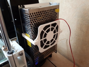 Minimalist PSU Fan Holder Anet A8