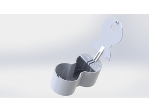 Box for cupholder Peugeot 3008