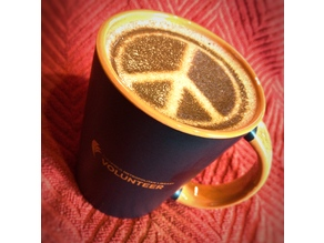 Coffee Stencil - Peace Symbol