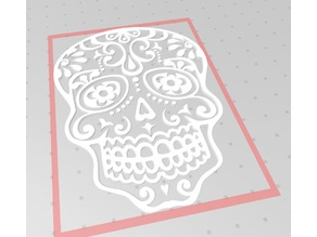 Mexican Skull 2D Wall Sculpture