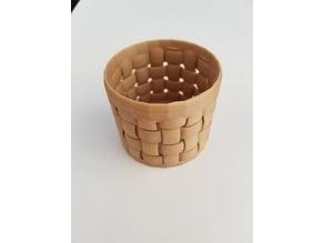Basket pot container bin