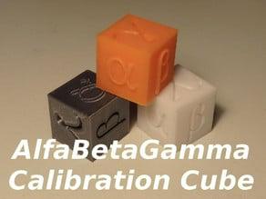 AlfaBetaGamma 20mm Calibration Cube