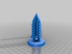 My Customized Parametric push pin-20mm-cones