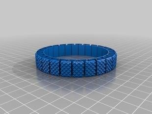 My Customized More  Stretchlet Bracelet - Knurled