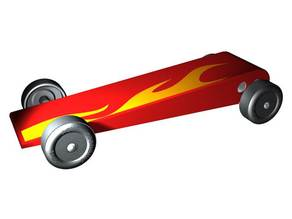 The Flying Wedge Pinewood Derby Car and Template
